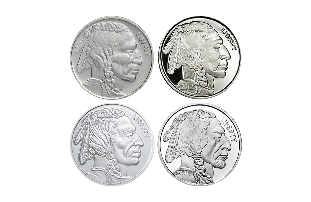 1 oz Silver Buffalo Round (Various Mints), image 1