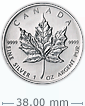 1 oz Silver Canadian Maple Leaf Coin
