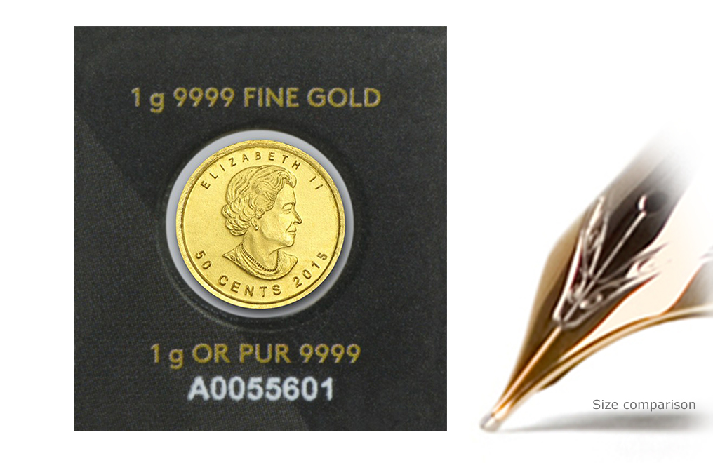 Buy 1 gram Gold MapleGram Coins (Random Year), image 1