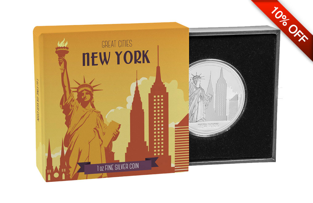 Buy 1oz Silver Coin Great Cities- New York .999, image 3