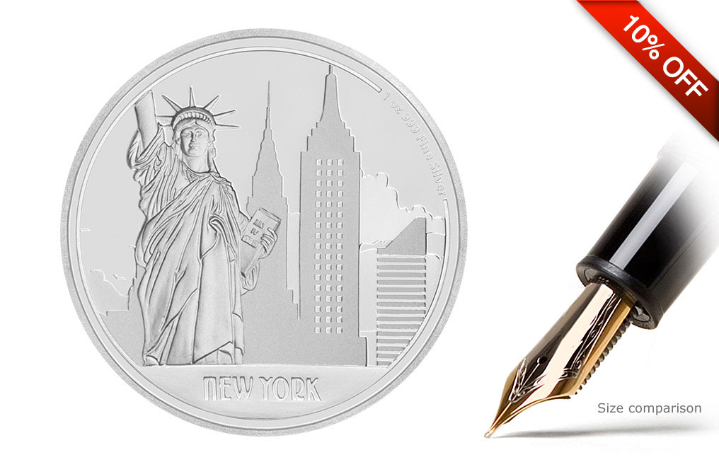 Buy 1oz Silver Coin Great Cities- New York .999, image 0