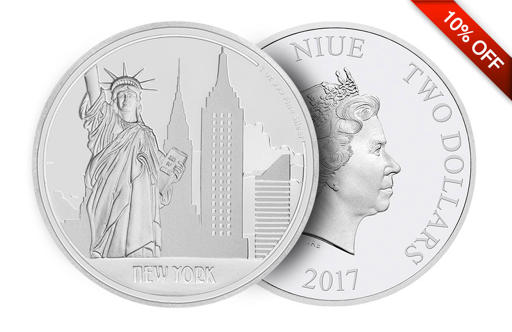 Buy 1oz Silver Coin Great Cities- New York .999, image 2