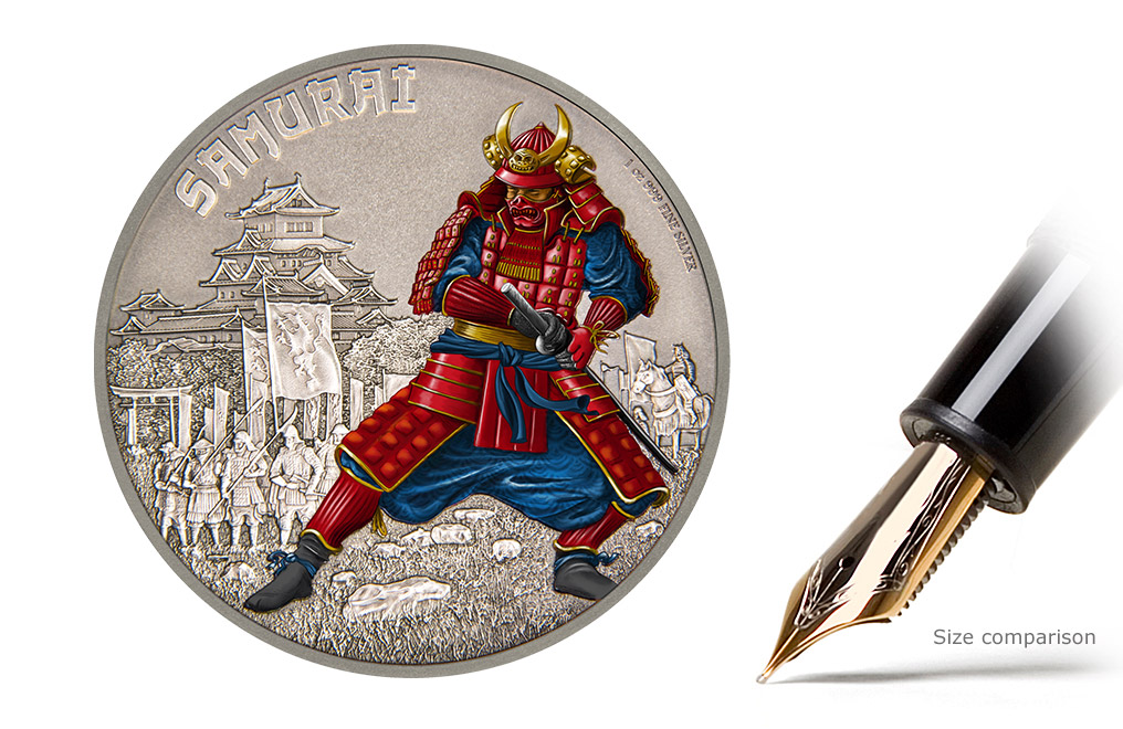 Buy 1oz Silver Coin Warriors of History-Samurai .999, image 0