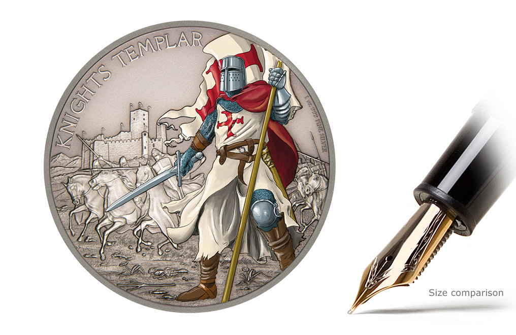 Buy Silver Coin Warriors of History-Knights Templar | Silver coin