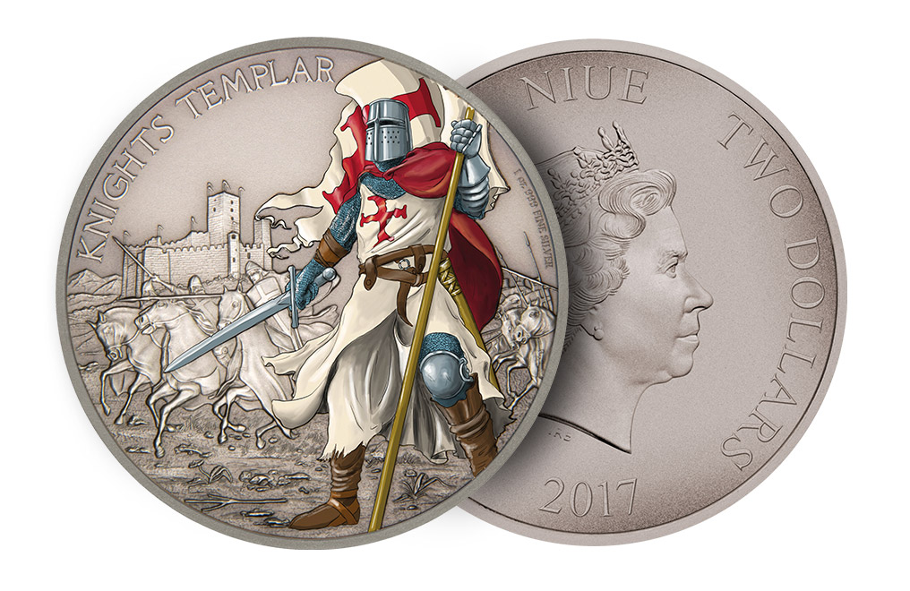 Buy 1oz Silver Coin Warriors of History-Knights Templar.999, image 2