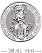 2 oz 2019 Silver Coin.9999 Queen's Beast- The Yale of Beaufort