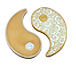 Buy 2 oz Pure Silver Yin Yang Round - 24k Gold Plated, image 0