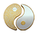 Buy 2 oz Pure Silver Yin Yang Round - 24k Gold Plated, image 1