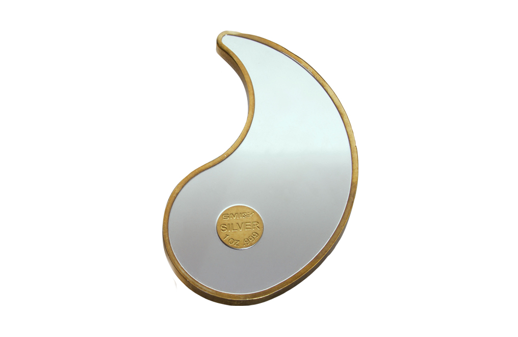 Buy 2 oz Pure Silver Yin Yang Round - 24k Gold Plated, image 6