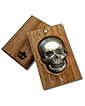 2 oz Silver Bar .999 - 3D Skull - Antique Finish