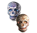 Buy 2 oz Silver 3D Skull Day of the Dead Rose Bar, image 3