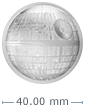 2 oz Silver Coin .999 - High Relief -Star Wars Death Star
