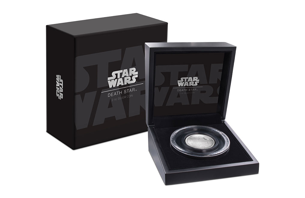 Buy 2 oz Silver Coin .999 - High Relief -Star Wars Death Star, image 0