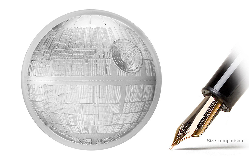 Buy 2 oz Silver Coin .999 - High Relief -Star Wars Death Star, image 1