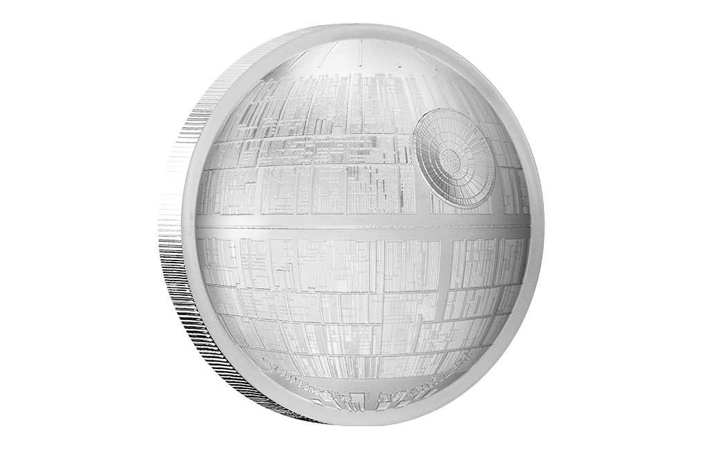 Buy 2 oz Silver Coin .999 - High Relief -Star Wars Death Star, image 4