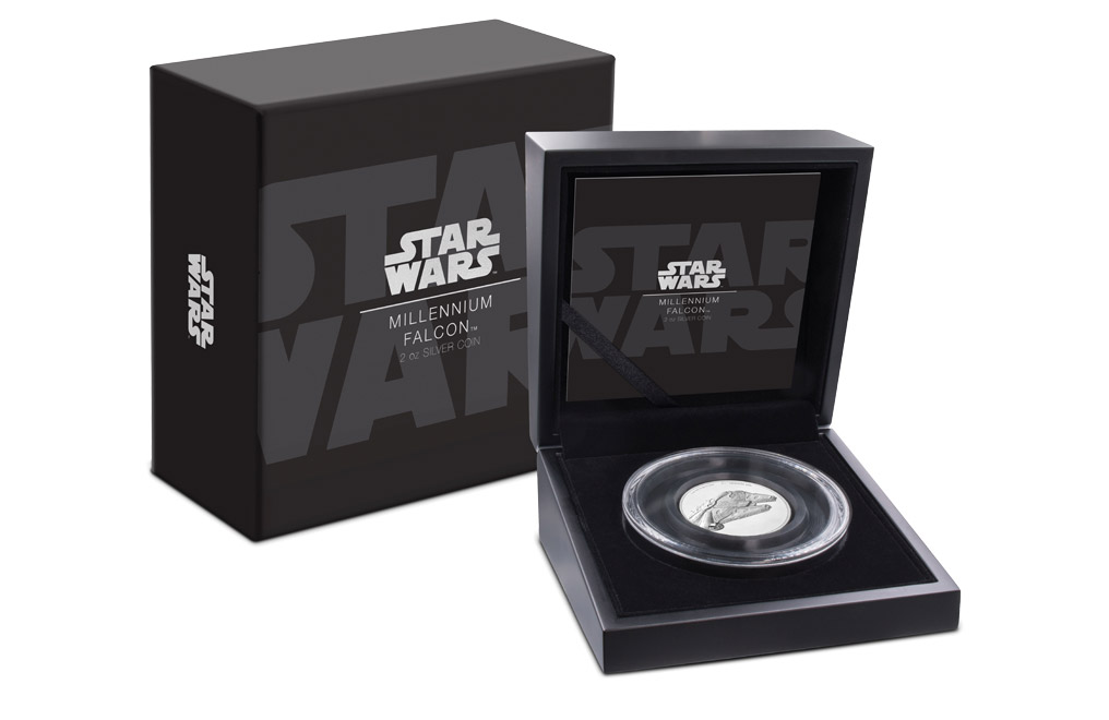 Buy 2 oz Silver Coin .999– Star Wars- Millennium Falcon, image 0