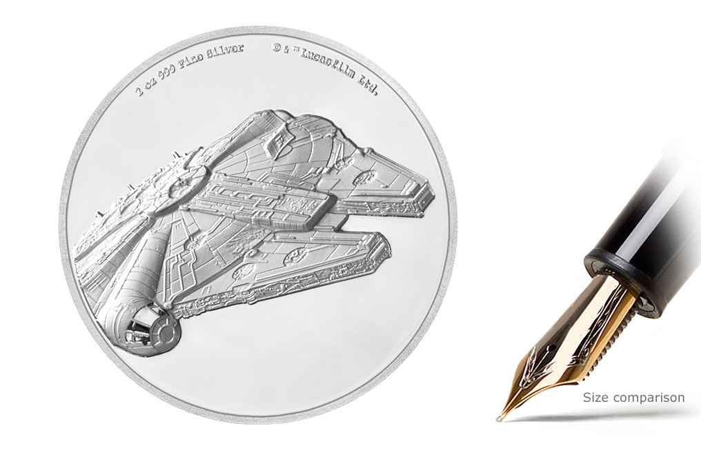 Buy 2 oz Silver Coin .999– Star Wars- Millennium Falcon, image 1