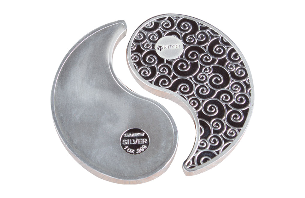 Buy 2 oz Silver Rounds Yin Yang, image 0