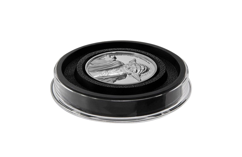Buy 2 oz Ultra High Relief Silver Coin .999 - Star Wars - Yoda, image 3
