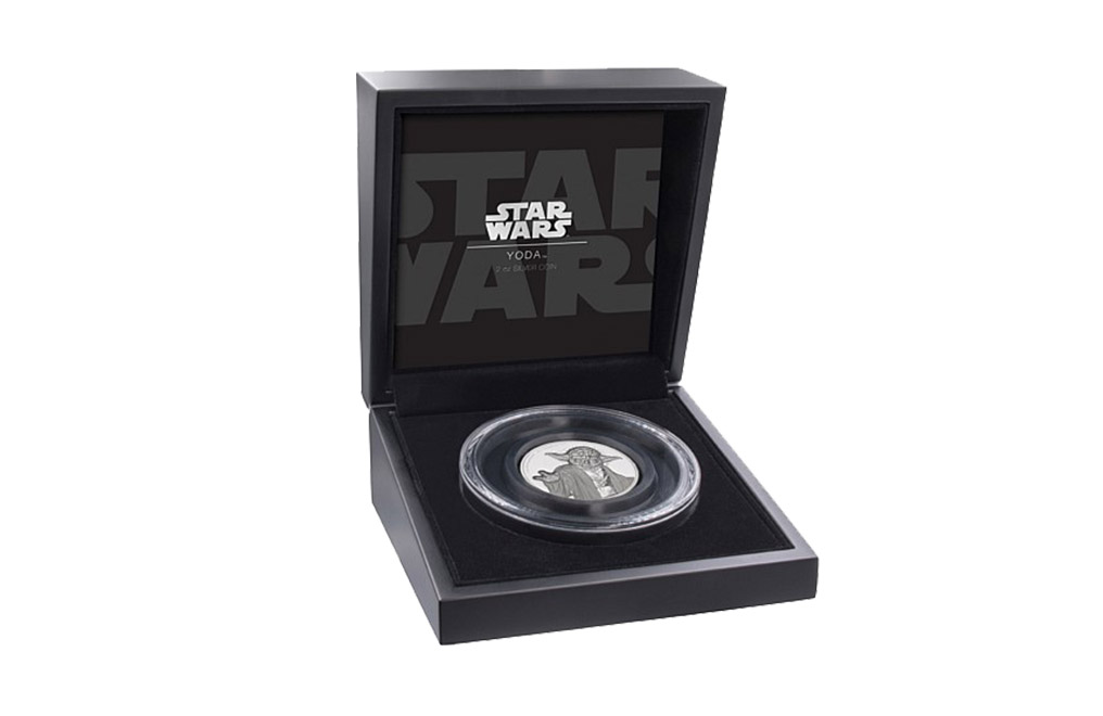 Buy 2 oz Ultra High Relief Silver Coin .999 - Star Wars - Yoda, image 2