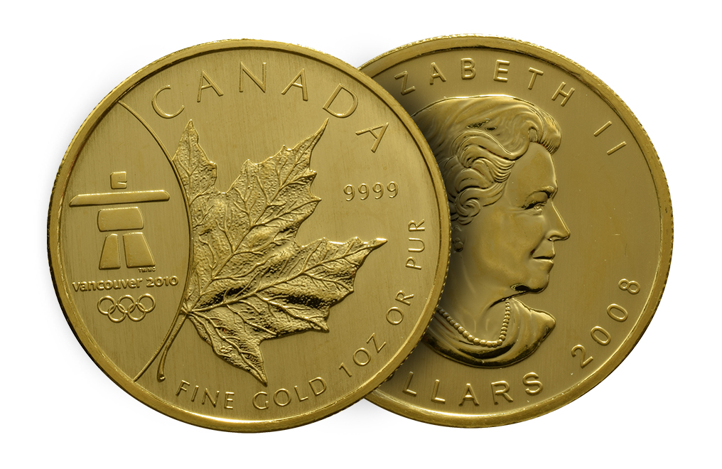 2008 1 oz Gold Maple Leaf Olympic Edition Coin, image 2