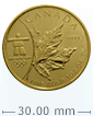 2008 1 oz Gold Maple Leaf Olympic Edition Coin