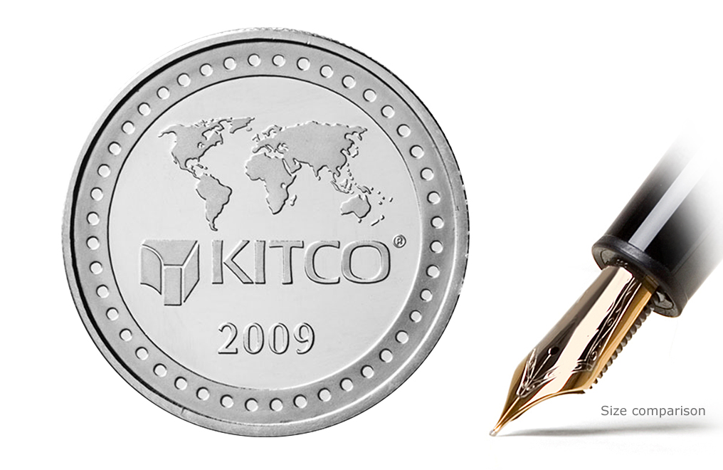 Sell 2009 1 oz Silver Kitco Round Wafer, image 1