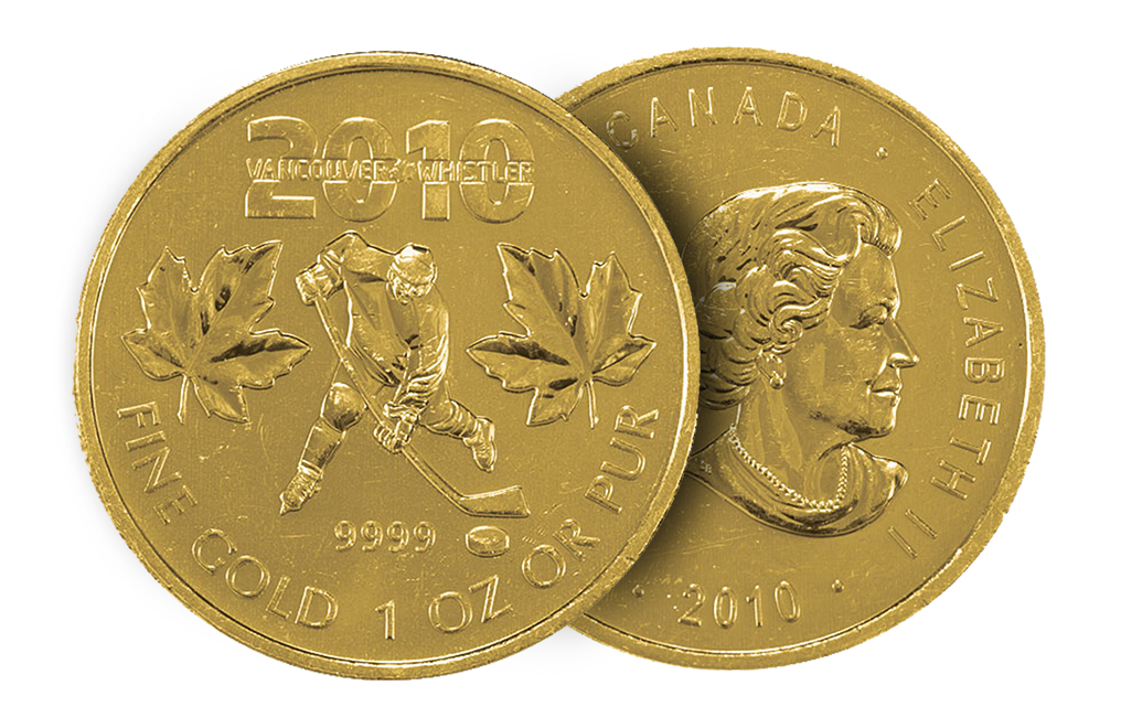 Buy 2010 1 oz Gold Maple Leaf Olympic Edition Coin, image 2