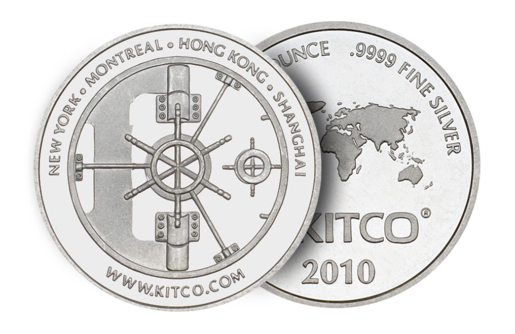 Sell 2010 1 oz Silver Kitco Round Wafer, image 2