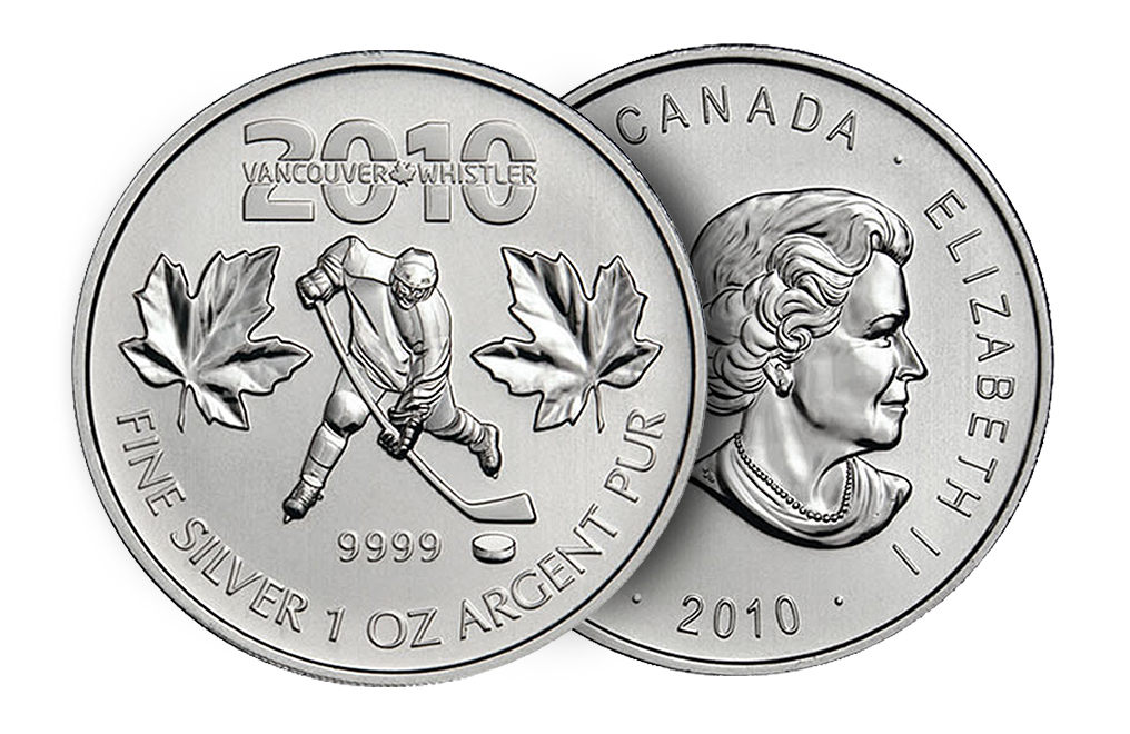 Sell 2010 1 oz Silver Maple Leaf Olympic Coins, image 2