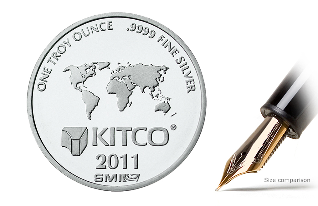 Sell 2011 1 oz Silver Kitco/SMI Round Wafer, image 1