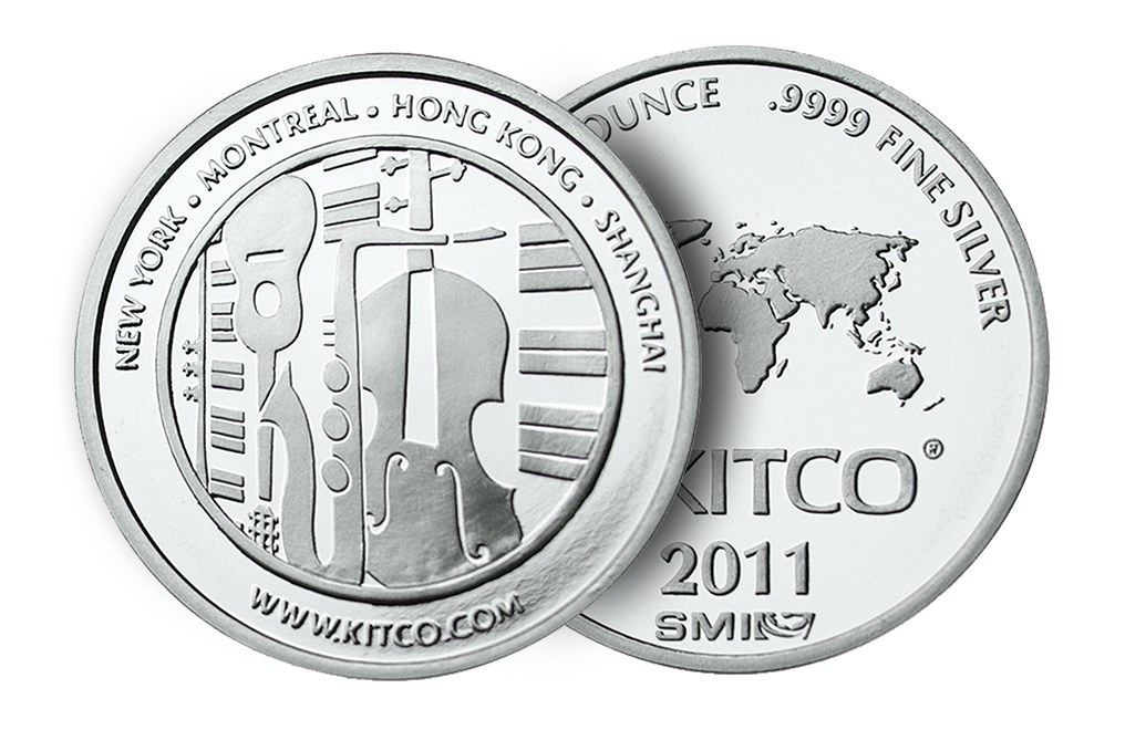 Sell 2011 1 oz Silver Kitco/SMI Round Wafer, image 2