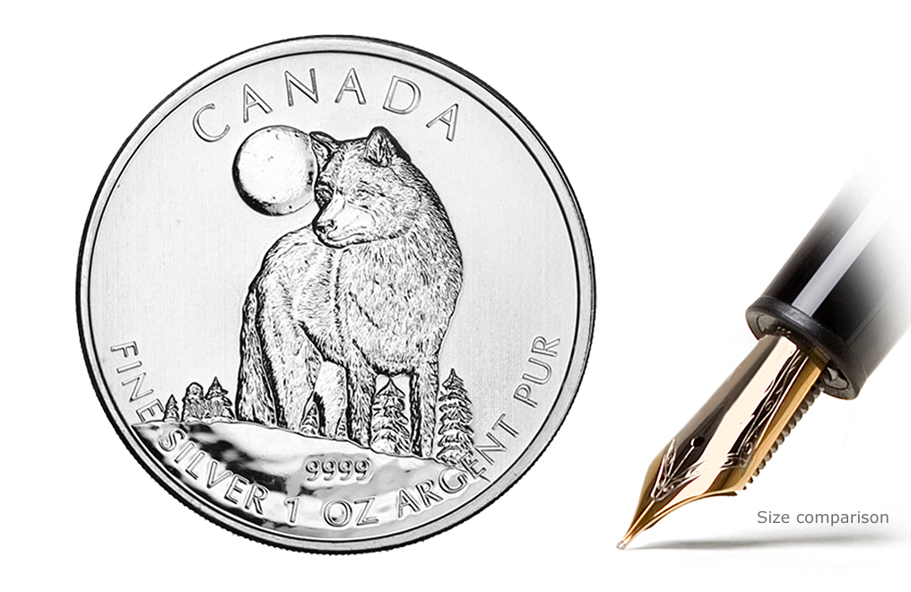 Buy 2011 1 oz Silver Wolf Coins - Canadian Wildlife Series Coin, image 0