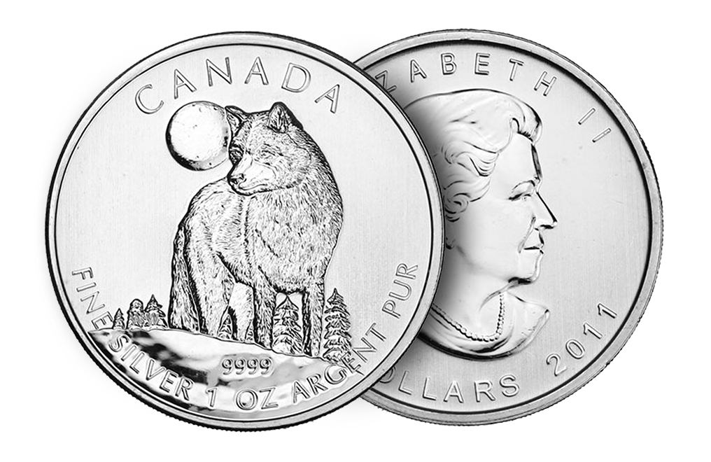 Buy 2011 1 oz Silver Wolf Coins - Canadian Wildlife Series Coin, image 2