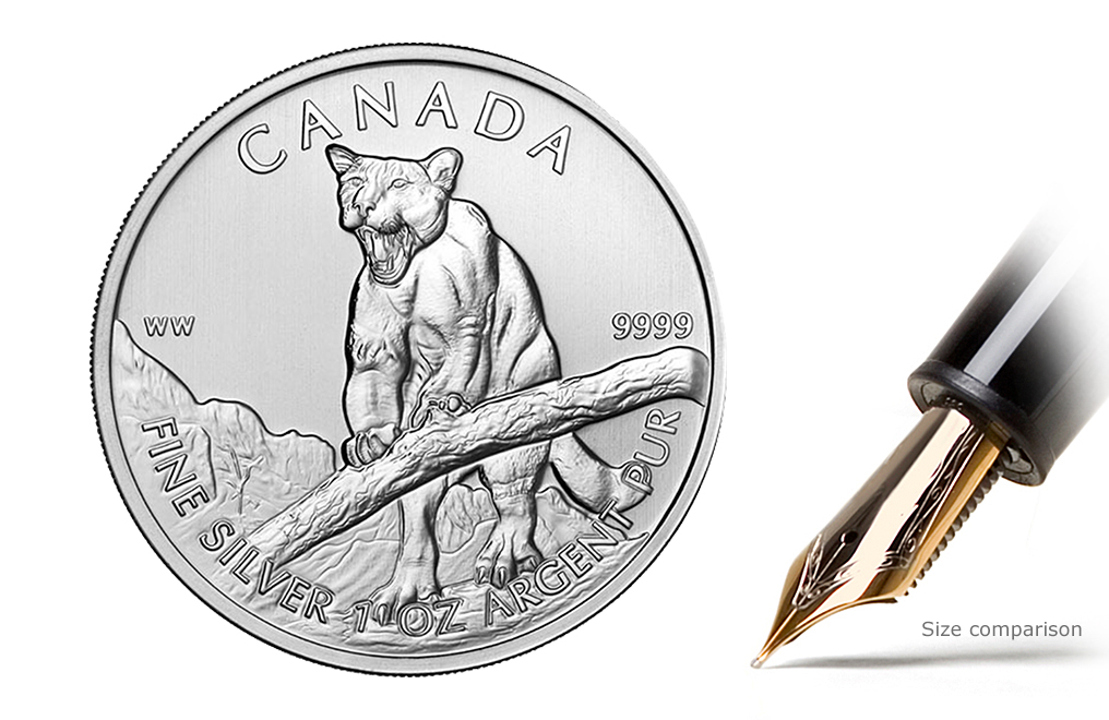 Sell 2012 1 oz Silver Cougar Coins - Canadian Wildlife Series Coin, image 0
