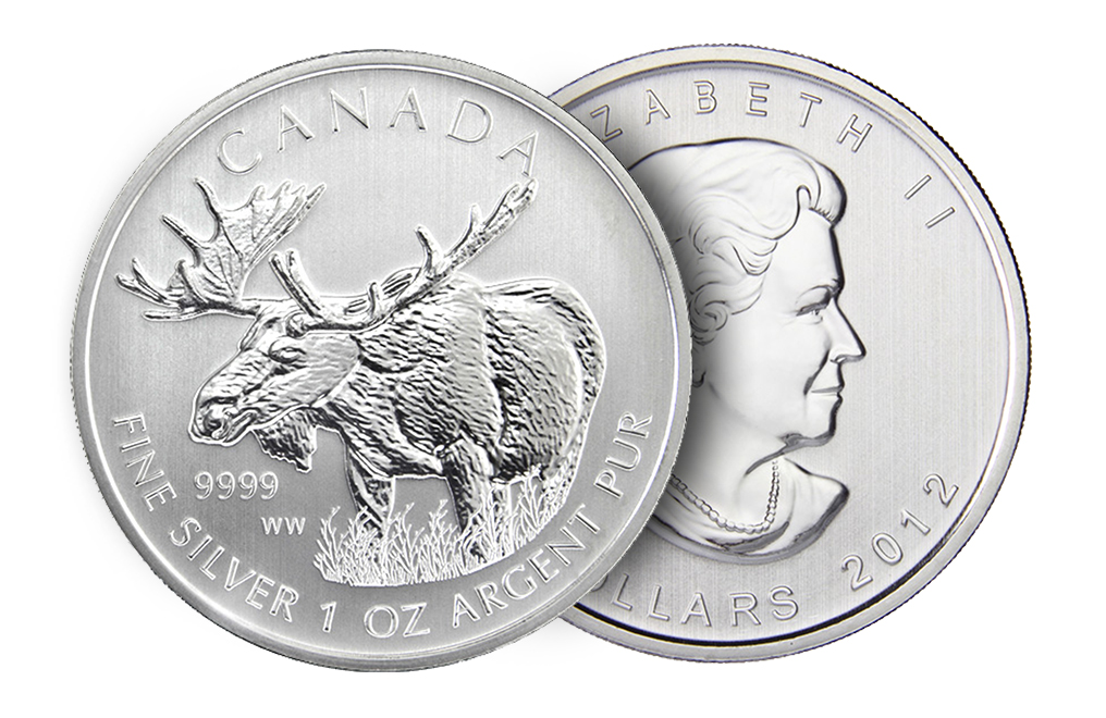 Buy 2012 1 oz Silver Moose Coins - Canadian Wildlife Series Coin, image 2