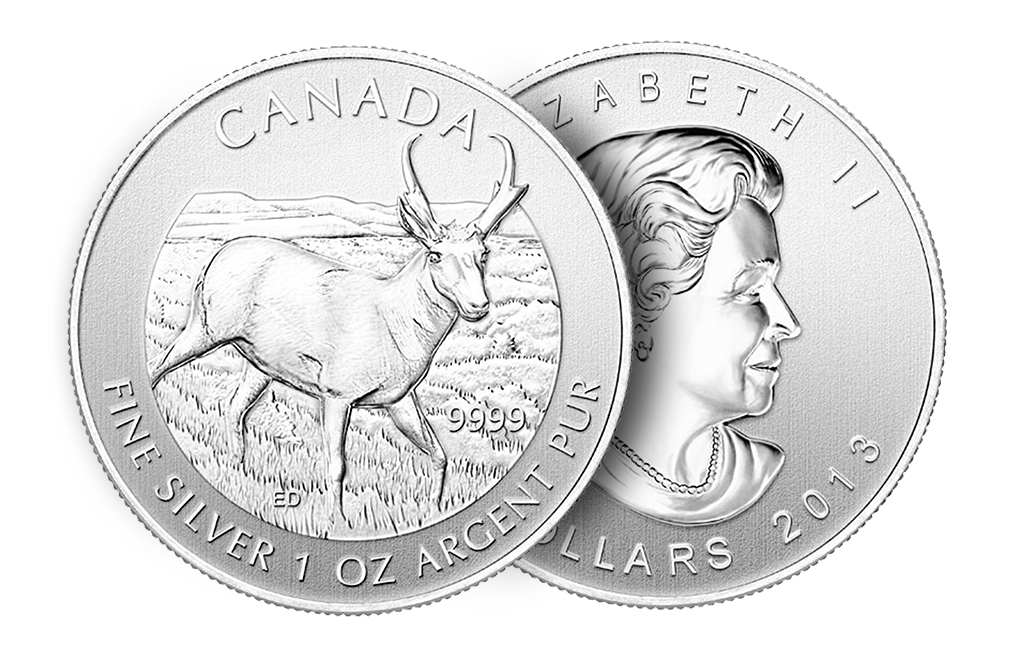 Buy 2013 1 oz Silver Antelope Coins - Canadian Wildlife Series Coin, image 2