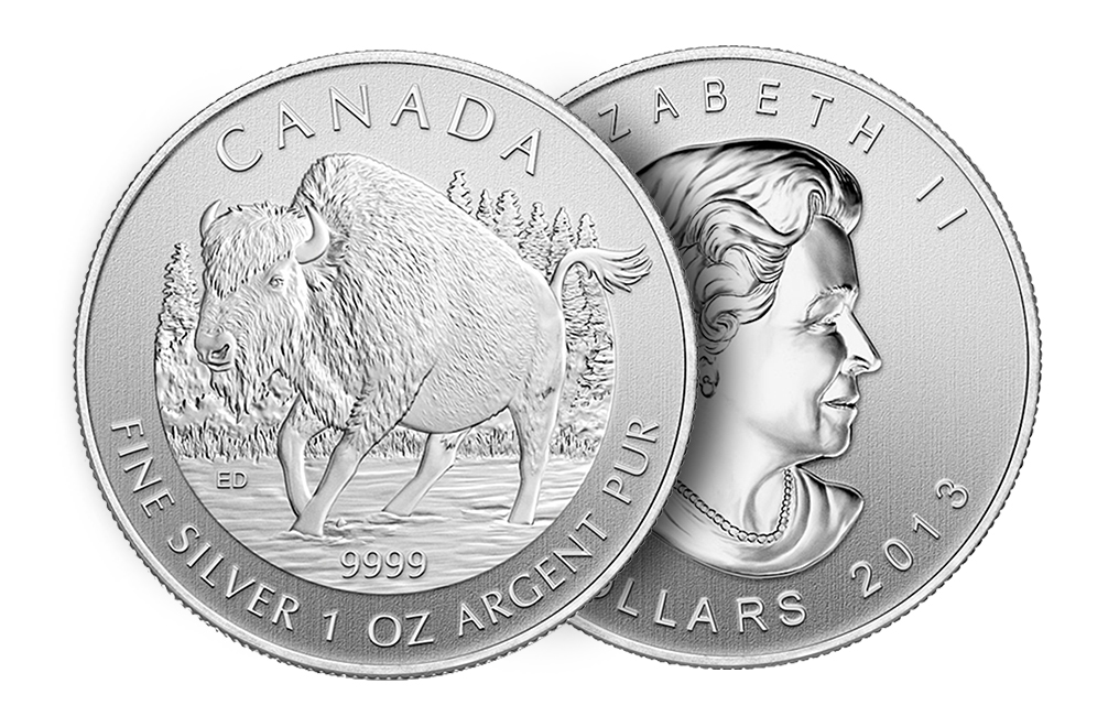 Sell 2013 1 oz Silver Wood Bison Coins - Canadian Wildlife Series Coin, image 2
