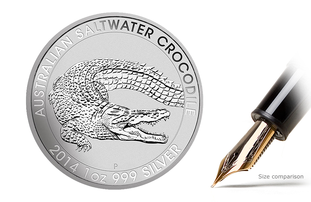 Sell 2014 1 oz Australian Silver Saltwater Crocodile Coins, image 0
