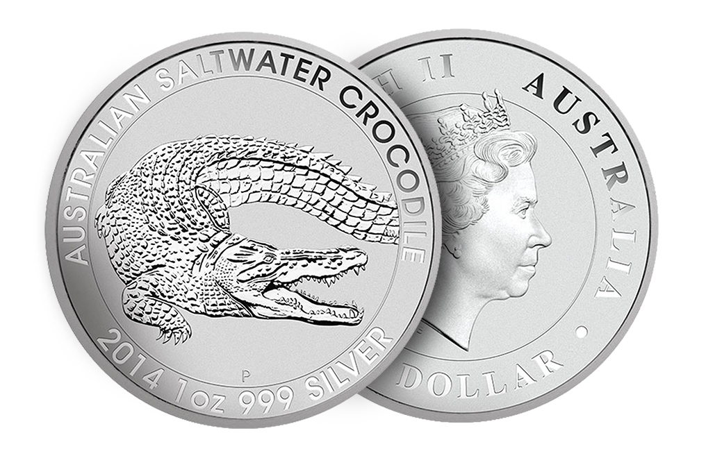 Sell 2014 1 oz Australian Silver Saltwater Crocodile Coins, image 2