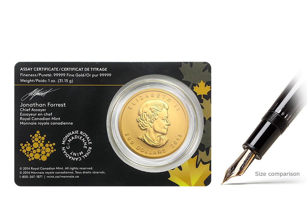 2015 1 oz Gold Canadian Growling Cougar Coin, image 1