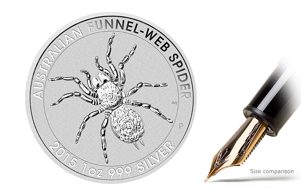 Buy 2015 1 oz Silver Funnel Web Spider Coins, image 0