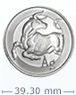 1 oz Silver ''Bull''-Silver Shield Round .999 (Random Year)