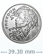 1 oz Silver Freedom Girl-Silver Shield BU Round .999 (Random Year)