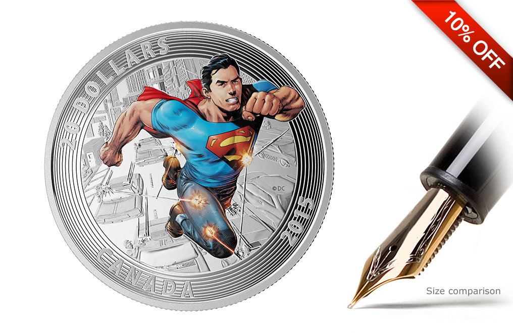 Buy 2015 1 oz Silver Superman Coins Action Comics #1 (2011), image 0