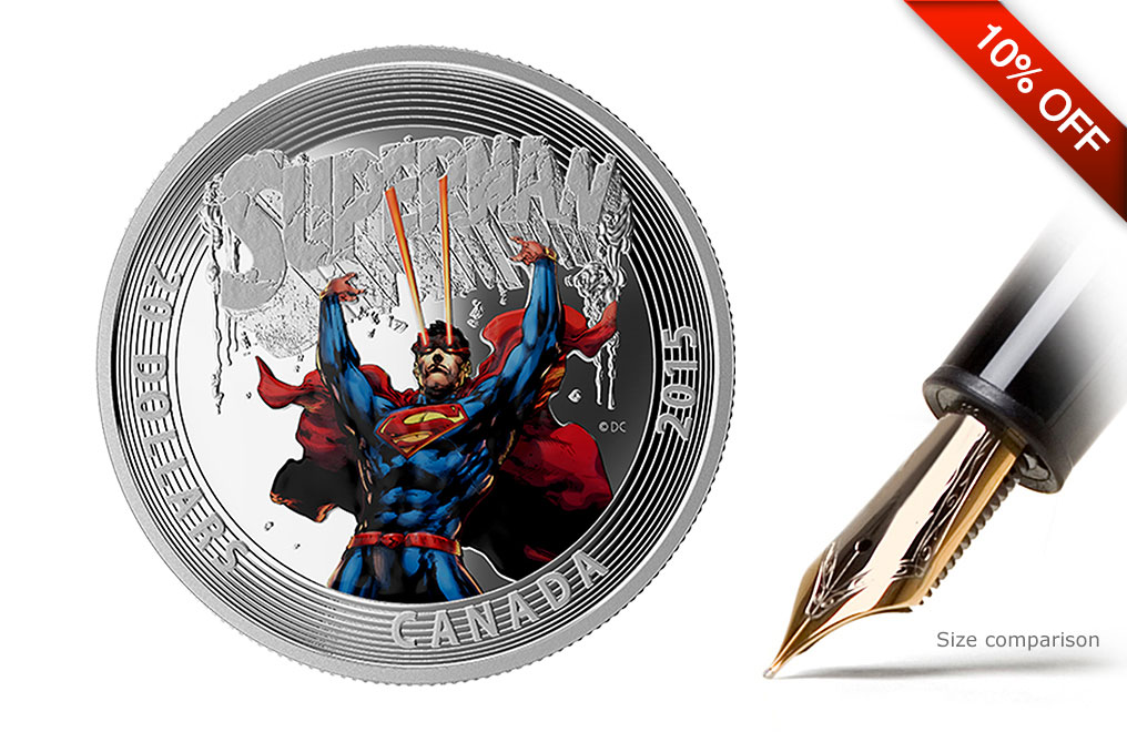 2015 1 oz Silver Superman:Superman #28 (2014) Coin, image 0