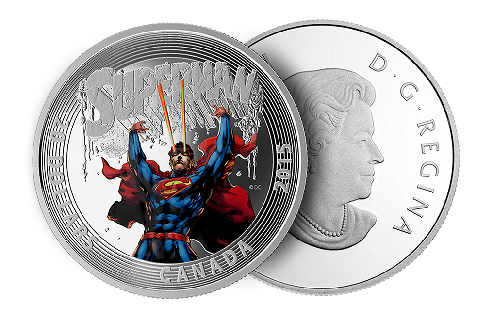 2015 1 oz Silver Superman:Superman #28 (2014) Coin, image 2