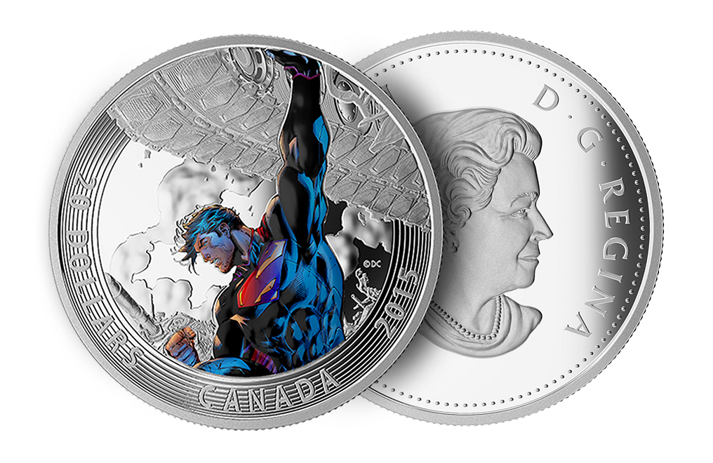2015 1 oz Silver Superman: Superman Unchained #2 (2013) Coin, image 2