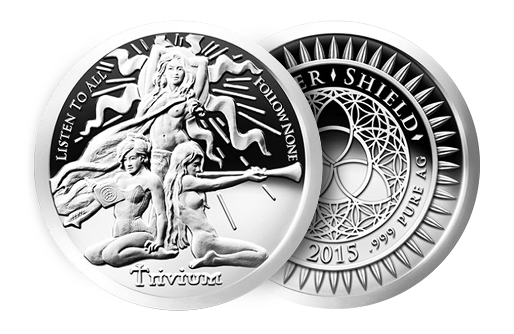 Buy 2015 1 oz Silver ''Trivium Girls''- Silver Shield Proof Round .999, image 2