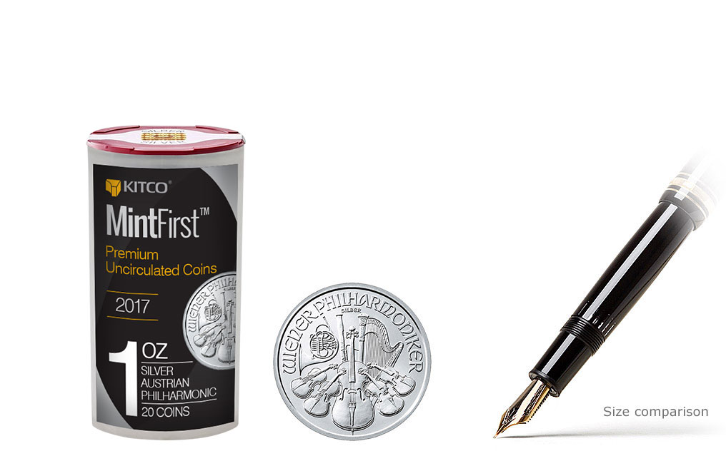 Buy 2017 1 oz Silver Philharmonic Coins MintFirst™ (20 coins per tube), image 0